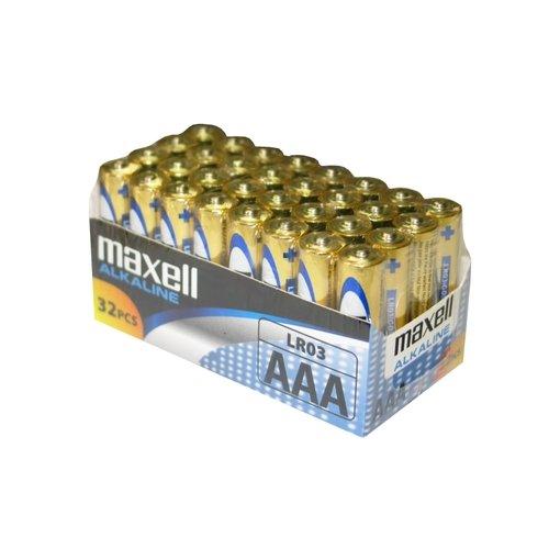 32 pilas AAA Maxell por solo 10,15€