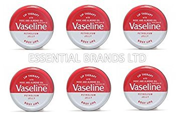 Vaseline Lip Therapy Petroleum Jelly 20g with Rose & Almond Oil Rosy Lips
