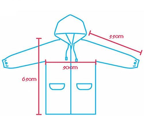 4Young Raincoats for Kids Waterproof Rain Jacket Girls Colorful Rainproof Rainwear