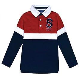 jolly rascals Boys Polo Top 100% Cotton Regular Collar – Long Sleeves – Button Front