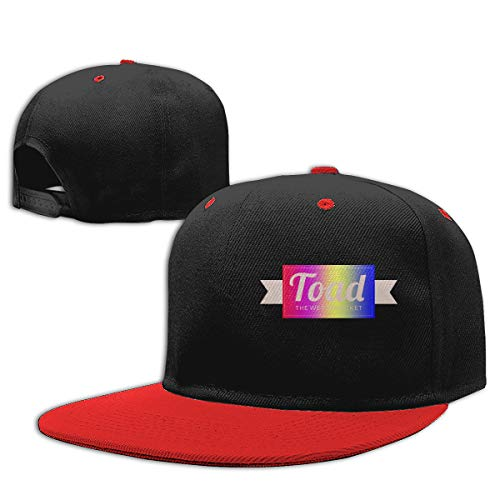 (POPAWI Soft Slim-fit Toad The Wet Sprocket Classic Stylish Adult Contrast Hip Hop Baseball Hat Unisex Adjustable Red)