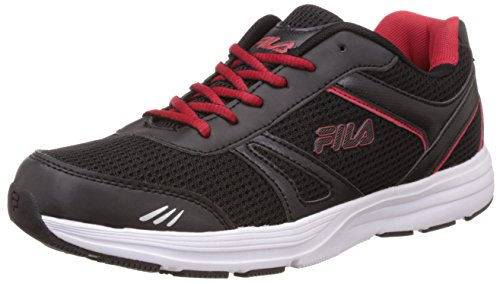 Fila Men's Run Away Plus 2 Black and Red Running Shoes -7...