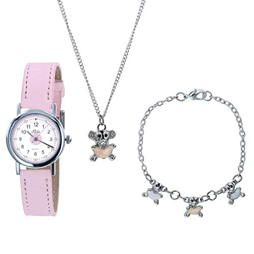 Relda Kids Teddy Bear Jewellery & Watch, Necklace, Bracelet Girls Gift Set REL27 from Relda