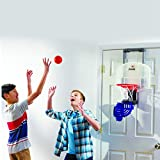 Franklin Sports Mini Basketball Hoop with Rebounder and Ball - Over The Door Basketball Hoop With Automatic Ball Rebounder - Indoor Basketball Game For Kids - Includes Foam Basketball