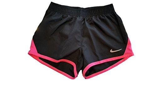 Price comparison product image Nike Little Girls Tempo Shorts (2T, Black (K09) / Hyper Pink/White/Reflective Silver)