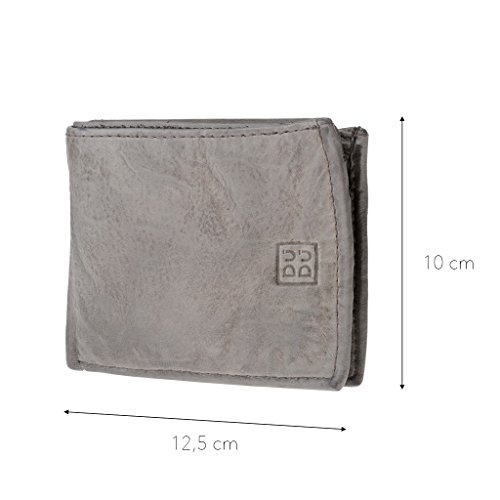 Ash leather Gray wallet look ~ 580 with by DUDU Man's Wallet in aged Timeless pocket coin 473 waqdWWEZnO