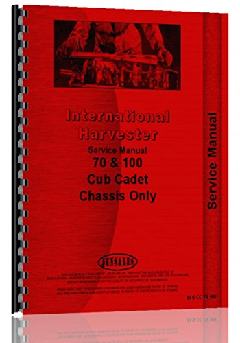 - International Harvester Cub Cadet 100 Lawn & Garden Tractor Service Manual