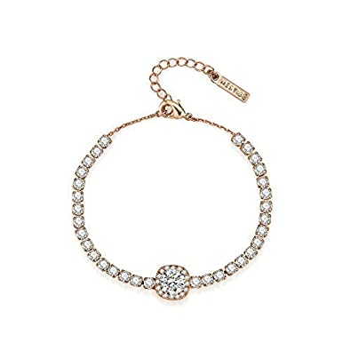 6758d0500 Amazon.com: MESTIGE Rose Gold Lilah Bracelet with Swarovski Crystals, Gifts  Women Girls, Bridal Jewelry (Rose Gold): Jewelry