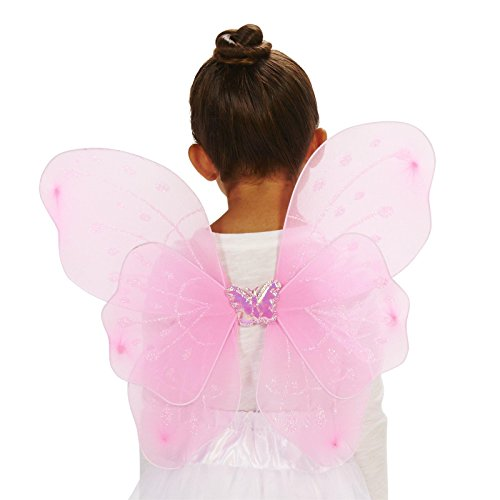 Pink Butterfly Fairy Child Wings (Fairy Of Dreams Costume)