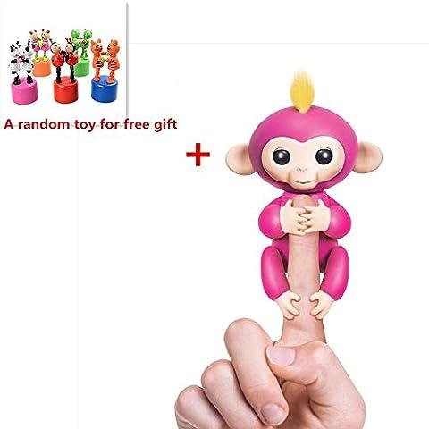 Interactive Baby Monkey,KEYEE Cute Fingerlings Stress Release Fun Toys Finger Puppets Electronic Monkey Toys For Kids For - Monkey Finger Puppet
