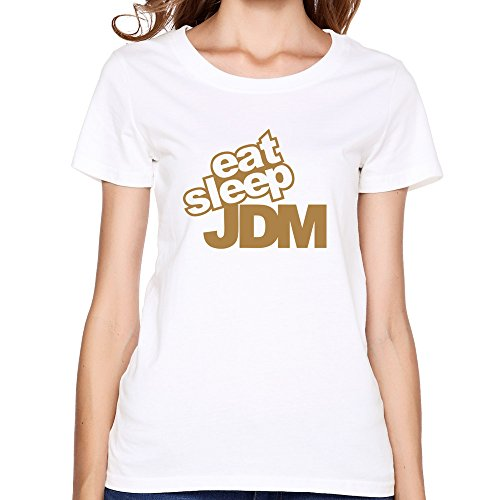 - Women's Eat Sleep Jdm T-shirt,White T-shirts By HGiorgis XL White