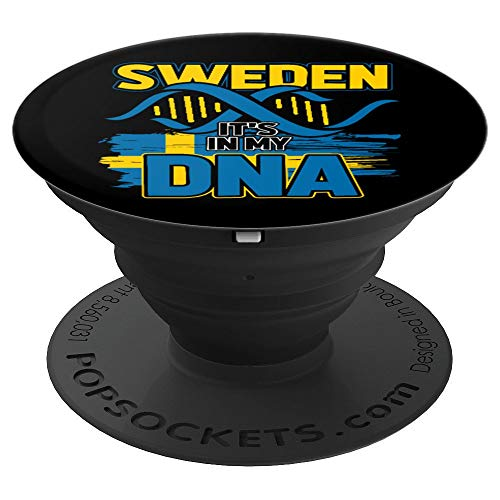 Sweden It Is In My DNA - Sweden Pop Socket - Scandinavia - PopSockets Grip and Stand for Phones and Tablets