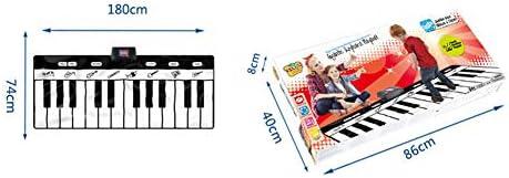 XIONGGG Piano Dancing Mat, 24 Tasten Piano Mat, 9 Wählbare Musikinstrumente, Mit Wiedergabe-, Aufnahme-Wiedergabe-Demo-Modus