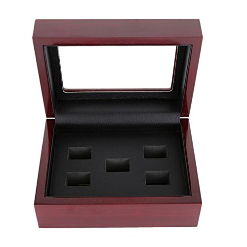 Wooden Box For Match prizes Ring 5 Holes (Championship Ring Box)