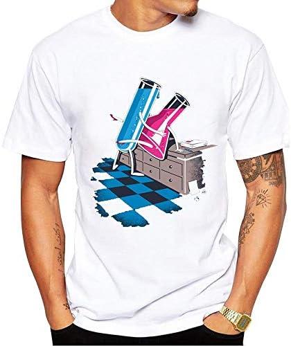 PengShi Camiseta De Hombre Camiseta Estampada De Moda Camiseta Química Masculina Y Femenina (Color : White, Size : XL): Amazon.es: Hogar