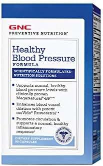 GNC Preventive Nutrition Healthy Blood Pressure, 90 Capsules, Supports Normal, Healthy Blood Pressure Levels