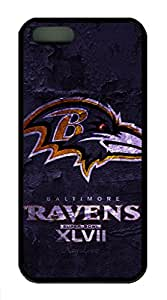 iPhone 5S/5 Case,Black¡ê?Soft TPU Plastic,Protective Case,Soft Case(can be customized)Soft Cover Snap on Case,Ultra-thin Case,Protective iPhone-Baltimore Ravens