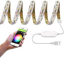 GIDERWEL RGBW LED Streifen 5m 300 LEDs SMD5050 12V RGB+Kaltes Weiß LED Lichtband Flexible Mixed Farbwechsel Dimmbar LED...