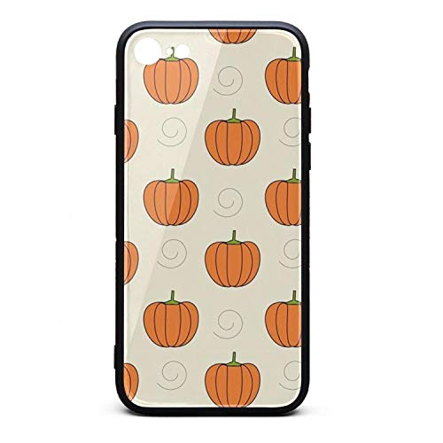 iPhone 6S Plus Case iPhone 6 Plus Case Pumpkins clipart-01 9H Tempered Glass Back Cover Soft TPU Frame Scratch Resistant Shock Absorption Compatible for iPhone 6/6s Plus]()