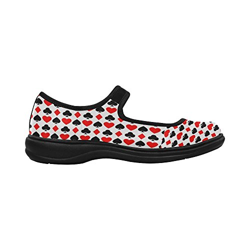 Interestprint Womens Comfort Mary Jane Flats Casual Walking Shoes Multi 4