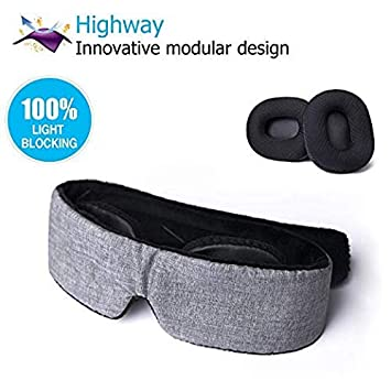 643616801 Highway Modular Sleep Mask (Fit Your Unique Face) Eye Mask for Sleeping - No