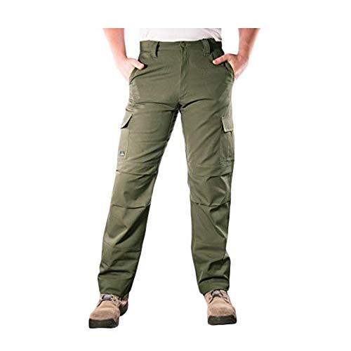 LA Police Gear Urban Recon Cotton Canvas Tactical Cargo Work Pant - OD Green - 36 x 36