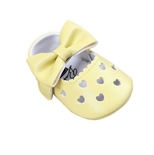 18 Único Bowknot 0 Bebé De Antideslizante Cuero Niña Meses Zapatillas Cc auxma Para Suave Niño Zapatos xqOpvIp