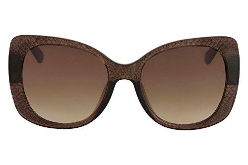 27d464e3f4089 Óculos De Sol Nine West Nw553S 208 55 Marrom Claro Transparente ...