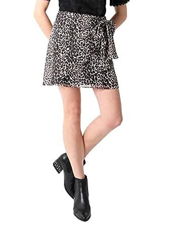 Scalpers Falda Pareo Leopardo Brillo - Falda para Mujer: Amazon.es ...