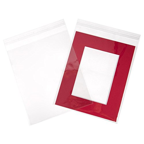 ClearBags 8.5 x 10 Clear Cello Bags | Resealable Adhesive on Flap, Not Bag | Great for Candy, Cookies, and Party Favors | Safe Storage of Documents, Pictures, Etc | FDA Approved | B108A (Pack of 100)