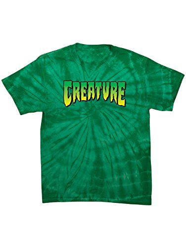(Creature Skateboards Logo Spider Kelly Tie Dye T-Shirt (Medium))