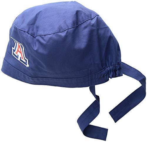 (WonderWink Men's University of Arizona Scrub Cap, Navy,)