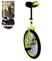 Einrad Dodo 20 Zoll (50cm) Gelb fuer Kinder geeignet ab 11 Jahren + gratis DVD