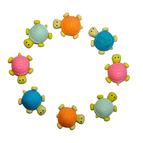 Adorable Turtle (Dazzling Toys Adorable Turtle Erasers - Set Include 12 Erasers)