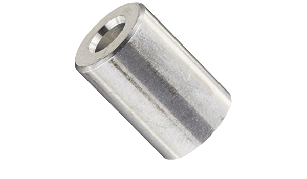 #8 Screw Size 1//2 OD Aluminum Plain Finish Round Spacer Made in US Pack of 10 1//8 Length 0.166 ID