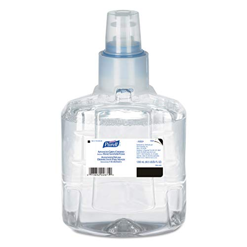 PURELL 190402CT Advanced Green Certified Hand Sanitizer Refill, 1200mL, FragFree (Case of 2) (Best 02 Sim Only Deals)
