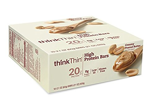 Thin Bar Creamy - thinkThin Protein Bars Creamy Peanut Butter - 2.1 oz - 10 ct
