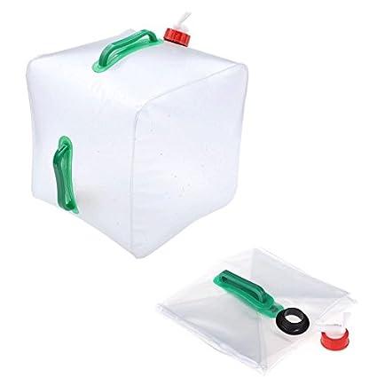 Amazon.com: Bolsa de agua plegable de 5 galones, bolsa de ...
