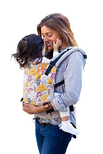 Baby Tula Multi-Position, Ergonomic Baby Carrier, Front and Back Carry for 15 – 45 pounds – Shenandoah (Gray, Pink, and Mustard Yellow Trees) Review