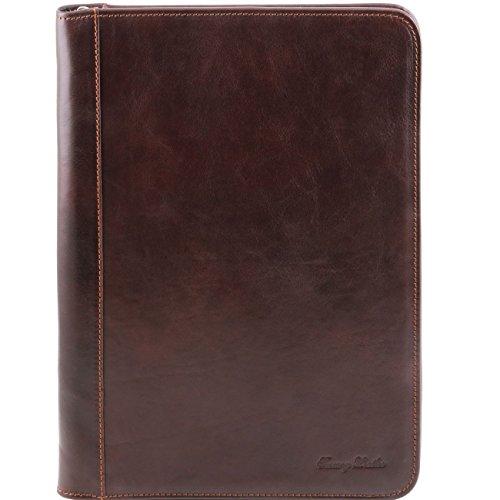 Tuscany Leather Luigi XIV - Portadocumentos en pielcon cierre de cremallera Marrón oscuro Portadocumentos en piel Marrón oscuro