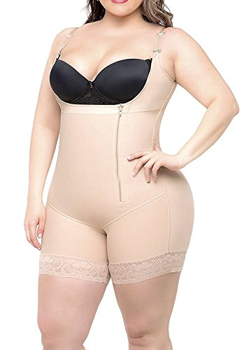 Women Body Shaper Bodysuits Butt Lifter Tummy Control Shapewear Underwear with Zipper Slimming Corset S-6XL