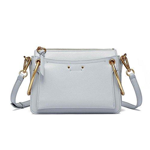 diagonal shoulder single Women Metal leather handbag double E bags cross Axiba ring fashion cWSTUqAcn