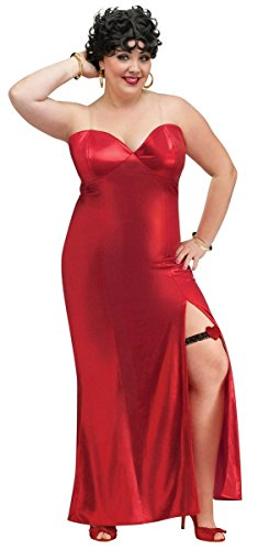 Betty Boop Adult Costume - Plus Size 1X/2X (Betty Boop Wig)