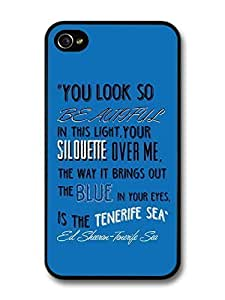 AMAF ? Accessories Ed Sheeran Singer Tenerife Sea Lyrics case for iPhone 5c
