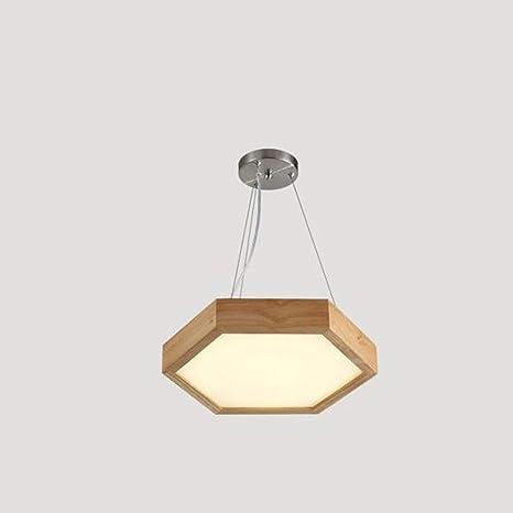 DEED Araña de Luces de lámparas de araña de Madera Maciza ...