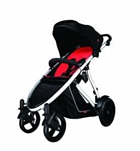 phil&teds Verve Stroller, Black/Red (Discontinued by Manufacturer)