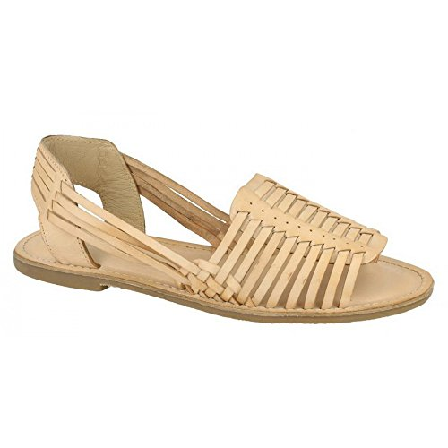 Weaved leather Womens Sandals Bronze Collection Ladies Slingback Leather CnqStp8wt