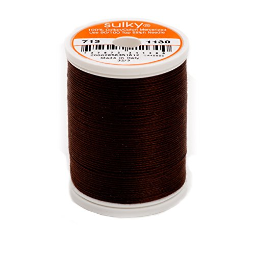 Sulky Of America 660d 12wt 2-Ply Cotton Thread, 330 yd, Dark Brown - 2 Ply Quilting Thread