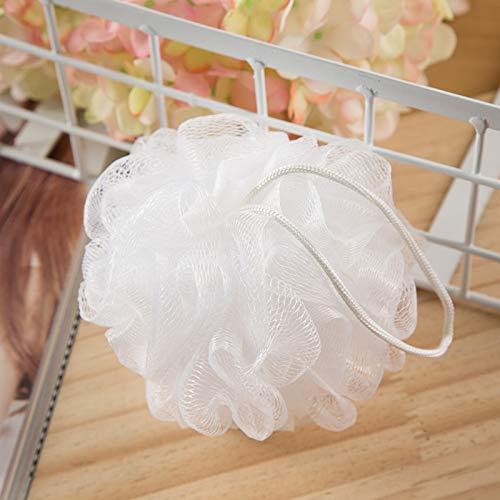 Bath Shower Loofah Sponge Pouf Ball Mesh Body Scrubber Bathing Accessories for Body Wash Bathroom Men Women (4 Loofahs + 8 Wall Hooks + 2 Silicone Face Scrubbers)