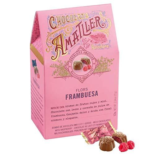 Flores con Frambuesa Chocolate 72g - Amatller: Amazon.es: Alimentación y bebidas